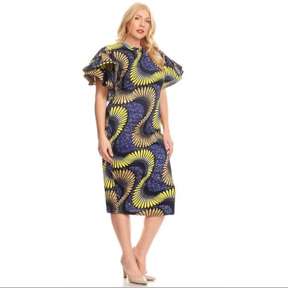 Boutique Dresses Plus Size African Prints Dress Poshmark